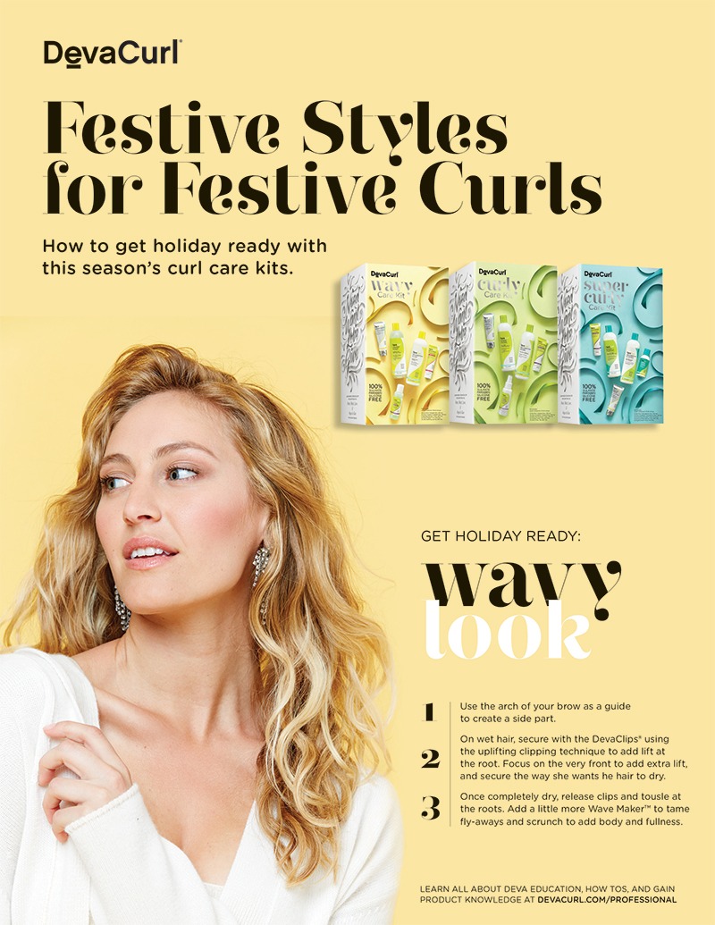 DevaCurl Festive Styles Step-by-Step instructions