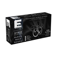 Professional Black Nitrile Gloves - X-Large