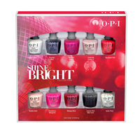 Shine Bright Nail Lacquer - 10 Piece Mini Holiday Kit