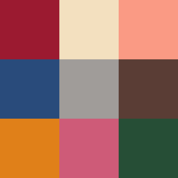 Pantone Autumn/Winter 2019-2010 Color Swatches
