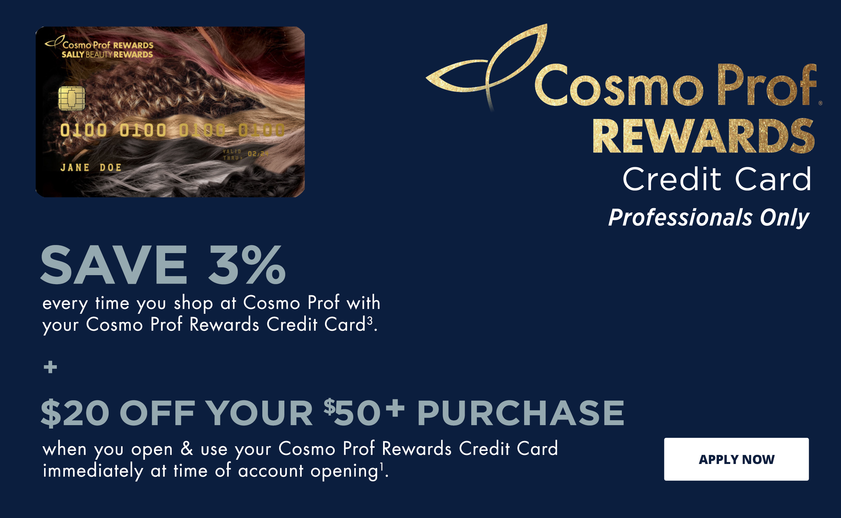 Cosmo Prof Rewards Credit Card