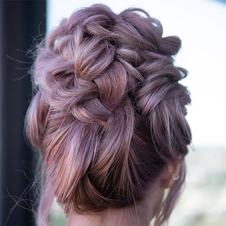 Simple Braided High Updo