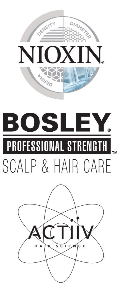 ACTiiV, Bosley & Nioxin Logos