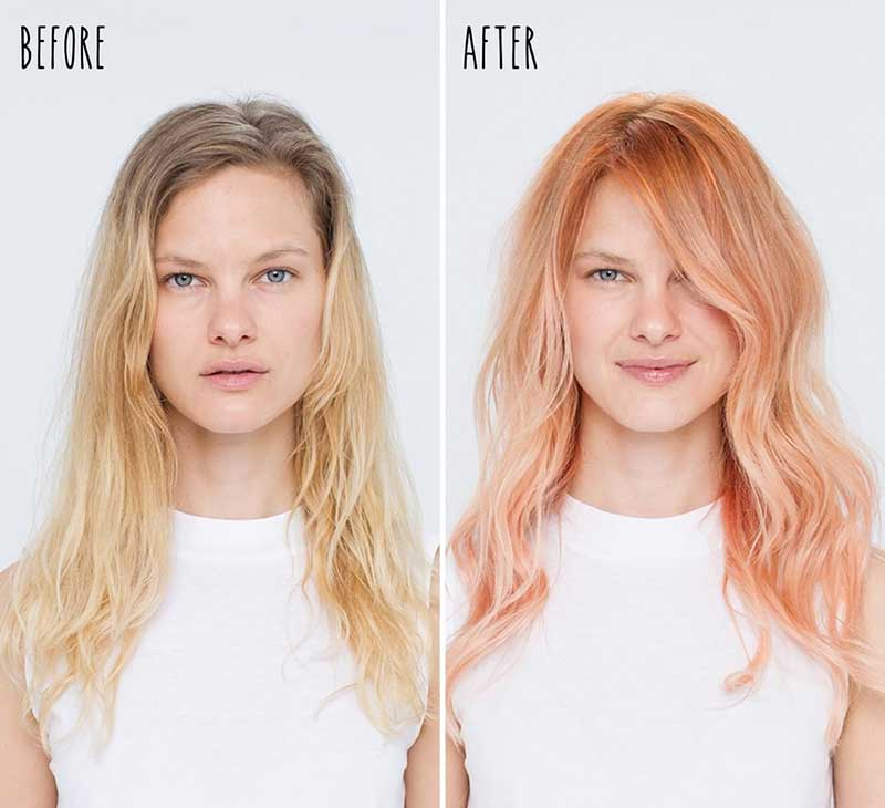 Model before and after