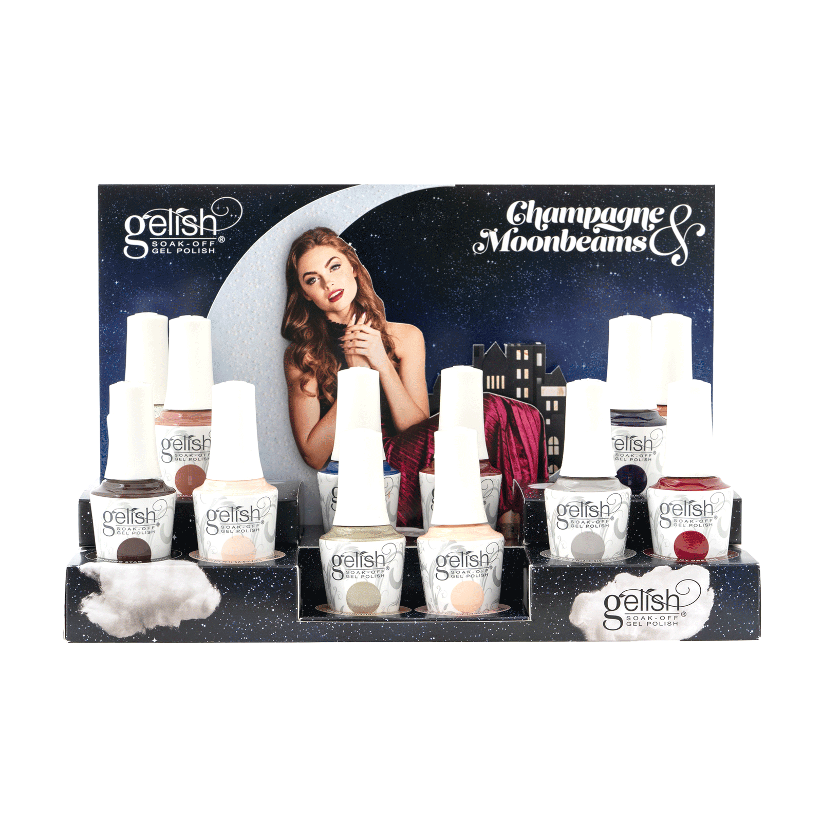 Gelish Champagne & Moonbeams - 12 Piece Display